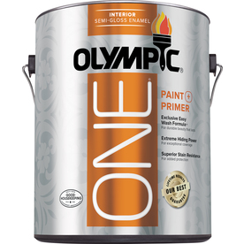 Olympic ONE Tintable Semi-Gloss Latex Enamel Interior Paint and Primer in One (Actual Net Contents: 114-fl oz)