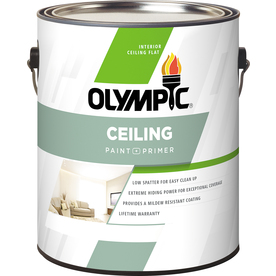 shop olympic one tintable flat latex interior paint and primer in one. Black Bedroom Furniture Sets. Home Design Ideas
