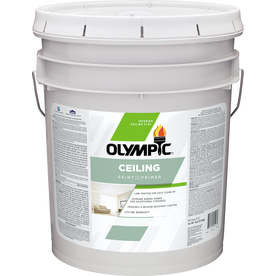 Olympic ONE ONE True White Flat Latex Interior Paint and Primer In One (Actual Net Contents: 620-fl oz)