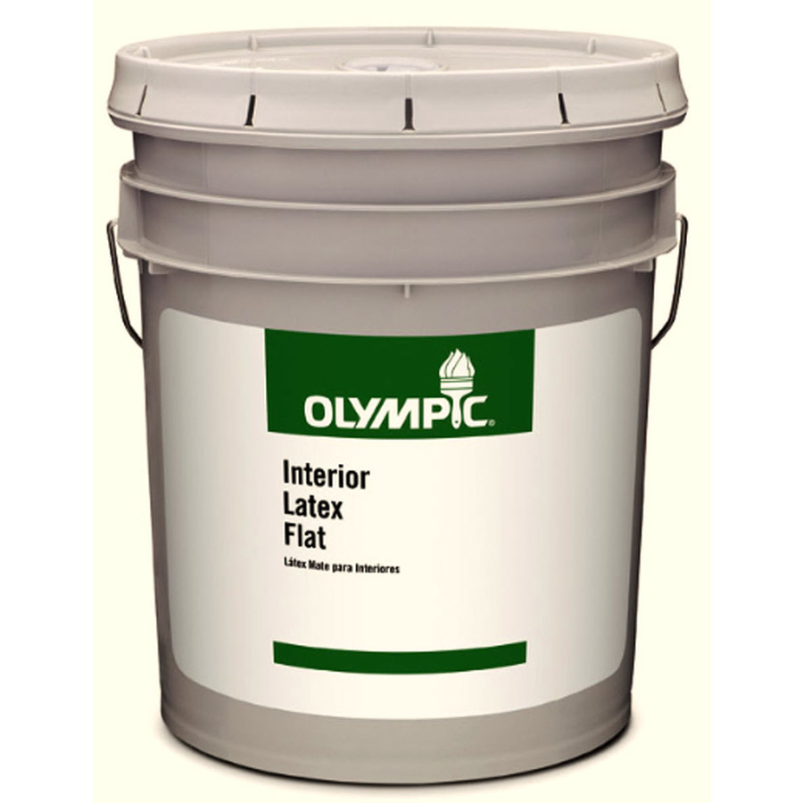 Mildew Resistant Paint Olympic 569 Fl Oz Interior Flat Clear Latex Base Paint On Po Mold And