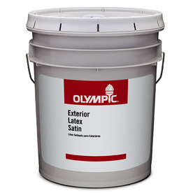 Olympic Clear Satin Latex Exterior Paint (Actual Net Contents: 579-fl oz)