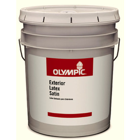 Olympic 5-Gallon Exterior Satin Clear Paint