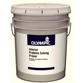 Olympic 5-Gallon Interior Flat White Latex-Base Paint