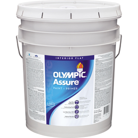 Olympic White Flat Latex Interior Paint and Primer In One Paint (Actual Net Contents: 620 Fluid Oz.)