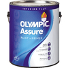 Olympic White Flat Latex Interior Paint and Primer in One (Actual Net Contents: 116-fl oz)