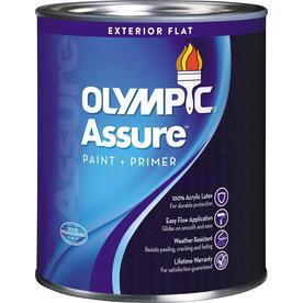 Olympic White Flat Latex Interior Paint and Primer in One (Actual Net Contents: 28.5-fl oz)