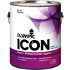 Olympic ICON White Eggshell Latex Interior Paint and Primer In One (Actual Net Contents: 116-fl oz)