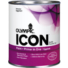 Olympic ICON White High-Gloss Latex Interior Paint and Primer In One (Actual Net Contents: 29-fl oz)