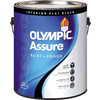 Olympic Black Flat Latex Interior Paint and Primer in One (Actual Net Contents: 128-fl oz)