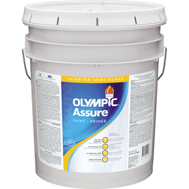 Olympic White Semi-Gloss Latex Interior Paint and Primer In One Paint (Actual Net Contents: 620 Fluid Oz.)