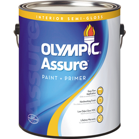 Olympic White Semi-Gloss Latex Interior Paint and Primer In One Paint (Actual Net Contents: 116 Fluid Oz.)