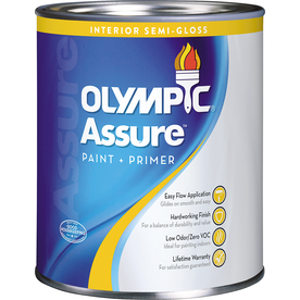 Olympic White High-Gloss Latex Interior Paint and Primer In One (Actual Net Contents: 28.5-fl oz)