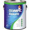 Olympic White Flat Latex Interior Paint and Primer in One (Actual Net Contents: 124-fl oz)