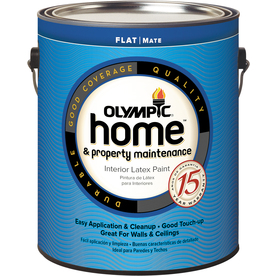 Olympic Home White Flat Latex Interior Paint (Actual Net Contents: 124-fl oz)