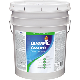 Olympic 5-Gallon Interior Flat Ceiling White Paint