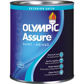 Shop Olympic Icon Exterior Satin Tintable White Latex Base Paint And Primer In One Actual Net