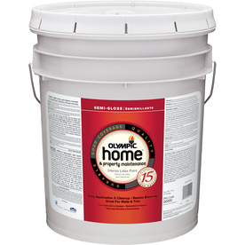 Olympic White Semi-Gloss Latex Interior Paint (Actual Net Contents: 620 Fluid Oz.)