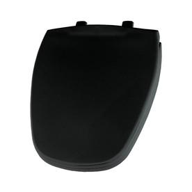 Shop Bemis Black Plastic Round Toilet Seat At
