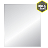 Style Selections 24-in x 36-in Silver Beveled Rectangle Frameless Traditional Wall Mirror