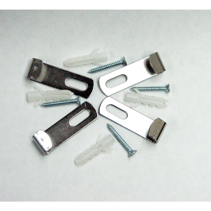 Shop style selections metal mirror clips at for Mirror holders