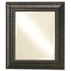 allen + roth Antiqued Mocha & Bronze Rectangle Framed Wall Mirror