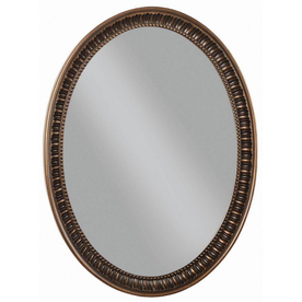 Style Selections Antique Bronze Oval Framed Wall Mirror