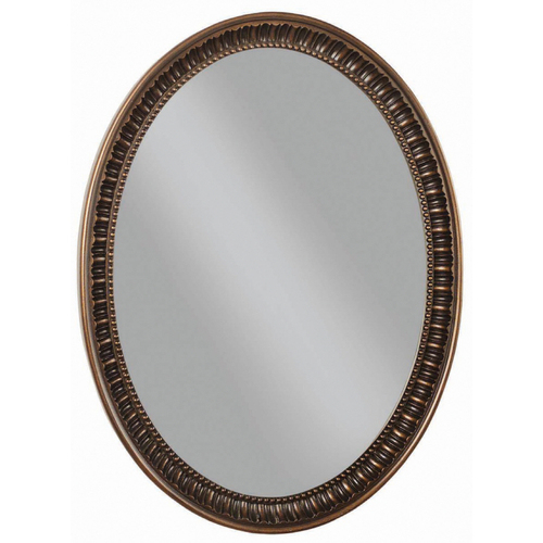 Framed Wall Oval Mirror Bath Vanity Home Decor 23x30 Ebay