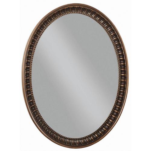 Framed wall oval mirror bath vanity home decor 23x30 ebay for Bronze framed bathroom mirrors