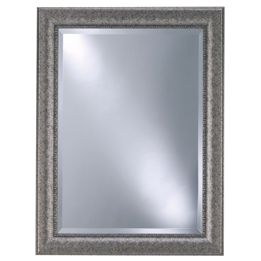 Shop style selections 25 in x 33 in contemporary pewter for Rectangle mirror