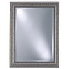 Style Selections 25-in x 33-in Contemporary Pewter Rectangle Framed Wall Mirror