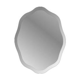 Style Selections Oval Frameless Wall Mirror