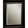 Style Selections 21-in x 27-in Espresso Rectangular Framed Mirror