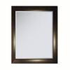allen + roth 27.125-in x 33.125-in Faux Ebony Makassar Rectangular Framed Mirror