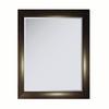 allen + roth 34.25-in x 27.625-in Faux Ebony Makassar Rectangle Framed Wall Mirror