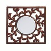 Style Selections Espresso Square Framed Wall Mirror
