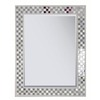 Style Selections Cream Rectangle Framed Wall Mirror