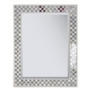 Style Selections 22.125-in x 28.375-in Cream Rectangle Framed Wall Mirror