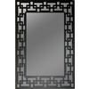 Gardner Glass Products Black Rectangle Framed Wall Mirror