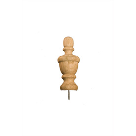 4-3/4&#034; Mixed Oak Craft Finial