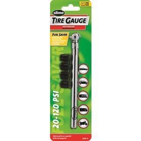 Slime 20-120-PSI Gauge with Bonus Valve Caps