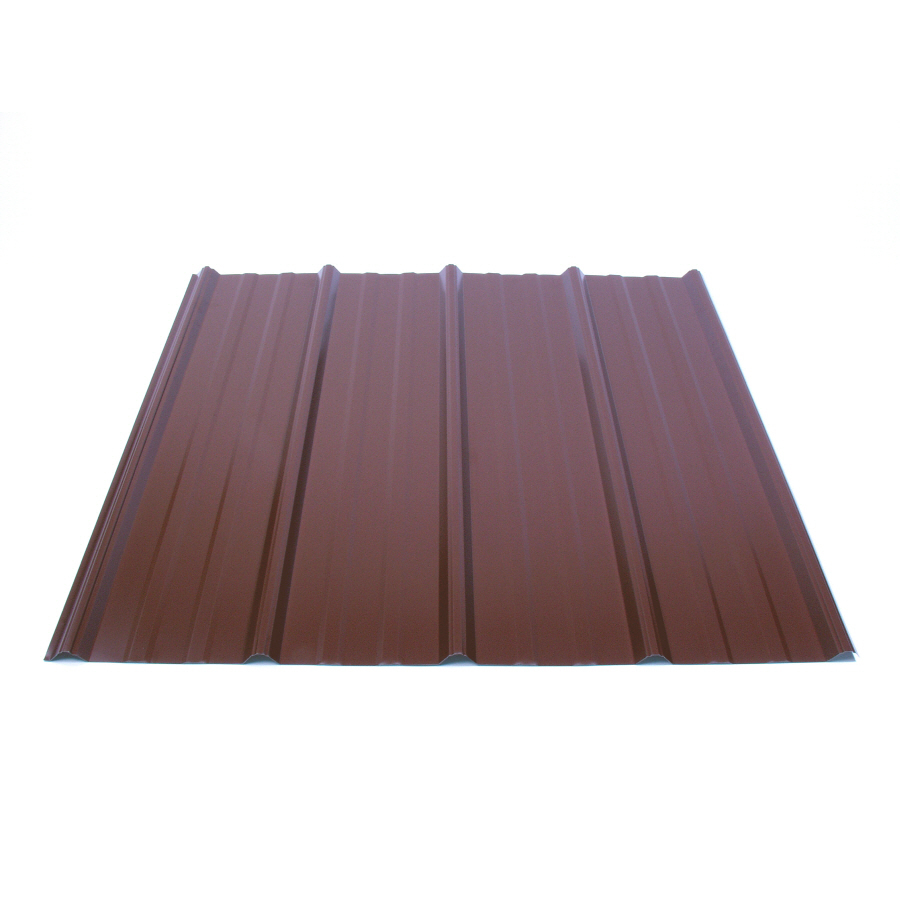 Shop Fabral 96-in x 37.75-in 29-Gauge Cocoa Brown Ribbed Steel Roof Panel at Lowes.com
