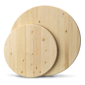Stain Kiln-Dried Elliotis Pine Round (Common: 1-1/4-in x 24-in x 24-in; Actual: 1-in x 24-in x 24-in)