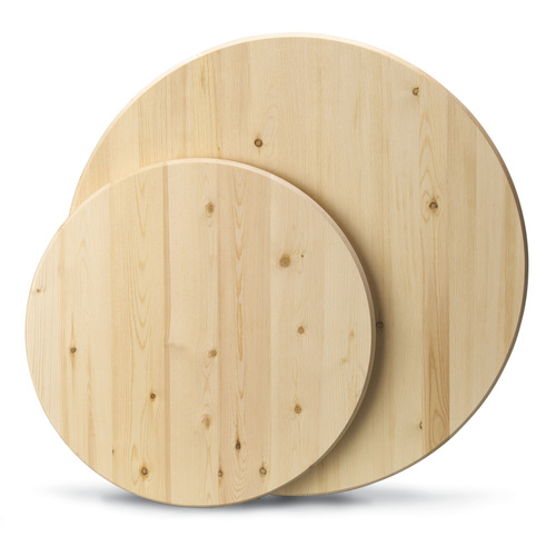 """Zoomed:  1"""" x 36"""" x 36"""" Stain Kiln-Dried Kiln-Dried Elliotis Pine Round"""