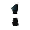 Crown Heritage Srs 2-Pack Flat Black Wrought Iron Baluster Shoes