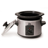 Elite Gourmet 1.5-Quart Stainless Steel Round 1-Vessel Slow Cooker