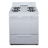 Premier Freestanding 3.9-cu ft Gas Range (White) (Common: 30; Actual: 30-in)