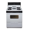 Premier 5-Burner Freestanding 3.9-cu ft Gas Range (White with Black Trim) (Common: 30; Actual: 30-in)