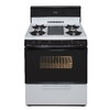 Premier 30-in 5-Burner Freestanding 3.9 cu ft Gas Range (White with Black Trim)