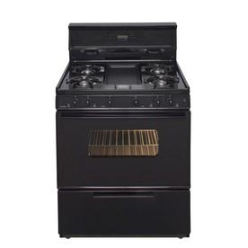 Premier 5-Burner Freestanding 3.9-cu ft Gas Range (Black) (Common: 30; Actual: 30-in)