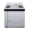 Premier Freestanding 3.9-cu ft Gas Range (White with Black Trim) (Common: 36; Actual: 36-in)